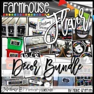 Farmhouse Flair Primary Classroom Decor