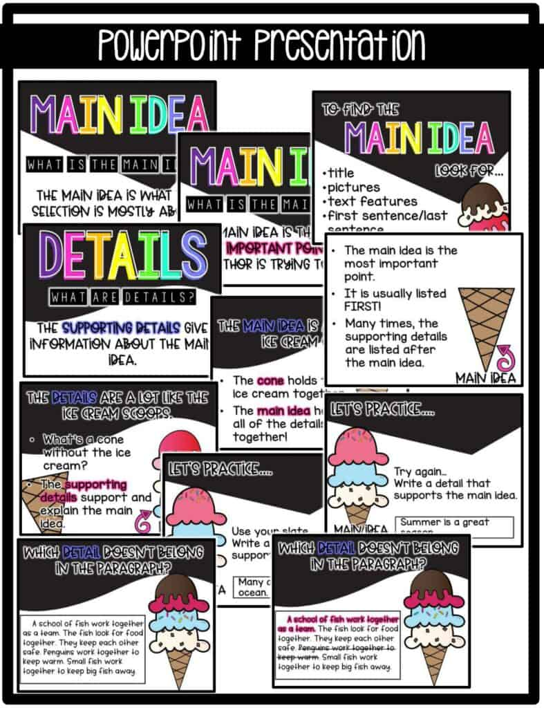 Main Idea and Details PowerPoint Presentation