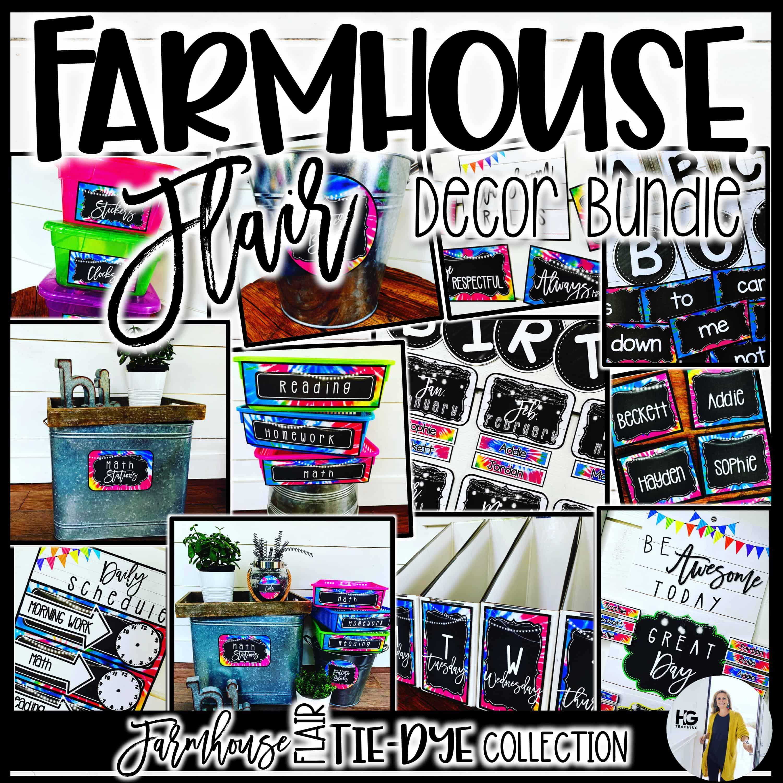 Farmhouse Tie-Dye Classroom Decor
